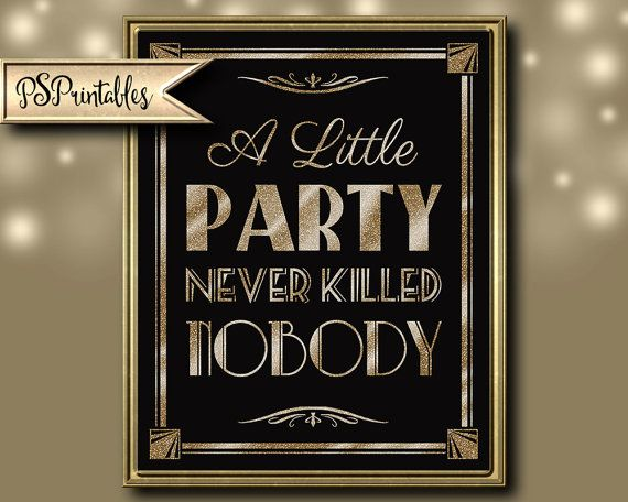 Great Gatsby Wedding A Little Party Never Killed Nobody