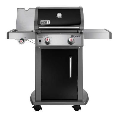 Weber Spirit E 220 2 Burner Propane Gas Grill In Black 46310001 The Home Depot Natural Gas Grill Weber Gas Grills Gas Grill Reviews