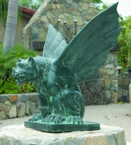 Exceptional Gargoyle Garden Statue In Bronze. Available In Small Medium And Large.  Available At
