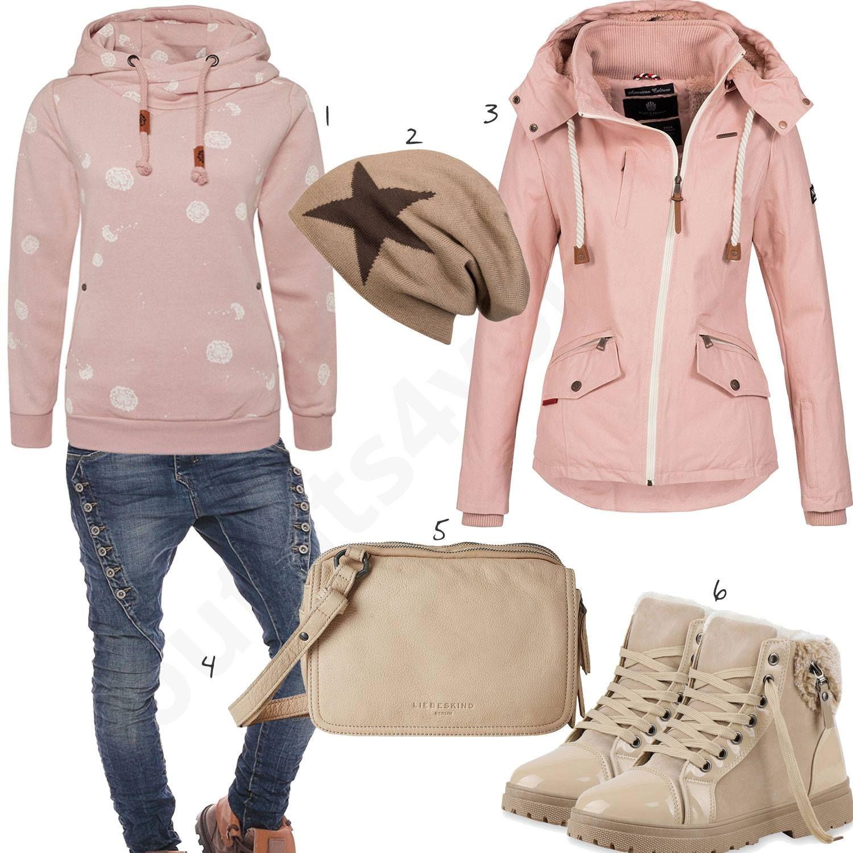Lassiger Style Fur Damen In Altrosa Und Beige Kleidung Fur Jugendliche Party Kleidung Und Bekleidung Fur Jugendliche