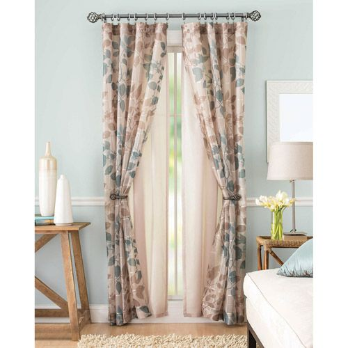 Decorating Gorgeous Walmart Curtains And Drapes For: Better Homes And Gardens Shadow Leaf Curtain Panel: Decor
