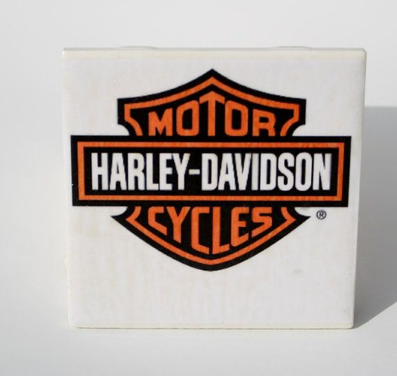 Ceramic Tile Coasters Harley Davidson By Memoriesnthyme On Etsy 12 00