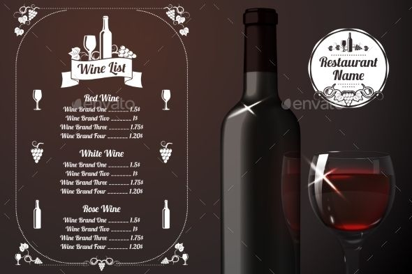 Menu Template With Alcohol  Menu Templates Template And Font Logo