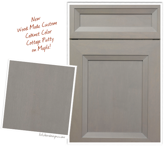 Kitchen Designs By Ken Kelly S New Custom Cabinet Color Cottage Putty On Maple With Glazing Rub Through And Physical Distressing In Our Wood Mode Line