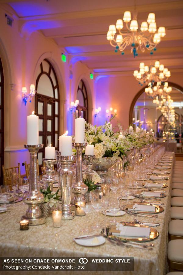 classic wedding reception decor at condado vanderbilt hotel My