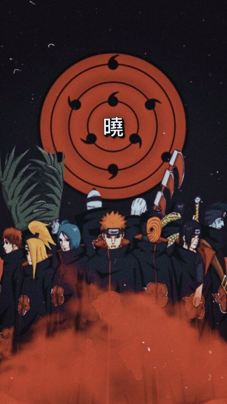 Akatsuki um dos grupos que mais botou medo no anime Naruto