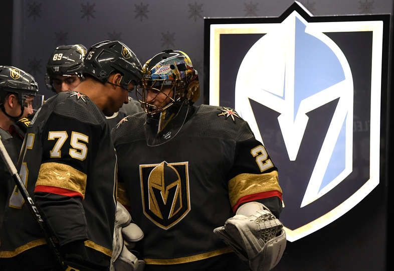Las Vegas Nv December 20 The Vegas Golden Knights Prepare To Take The Ice Prior To A Ga Golden Knights Vegas Golden Knights Golden Knights Hockey