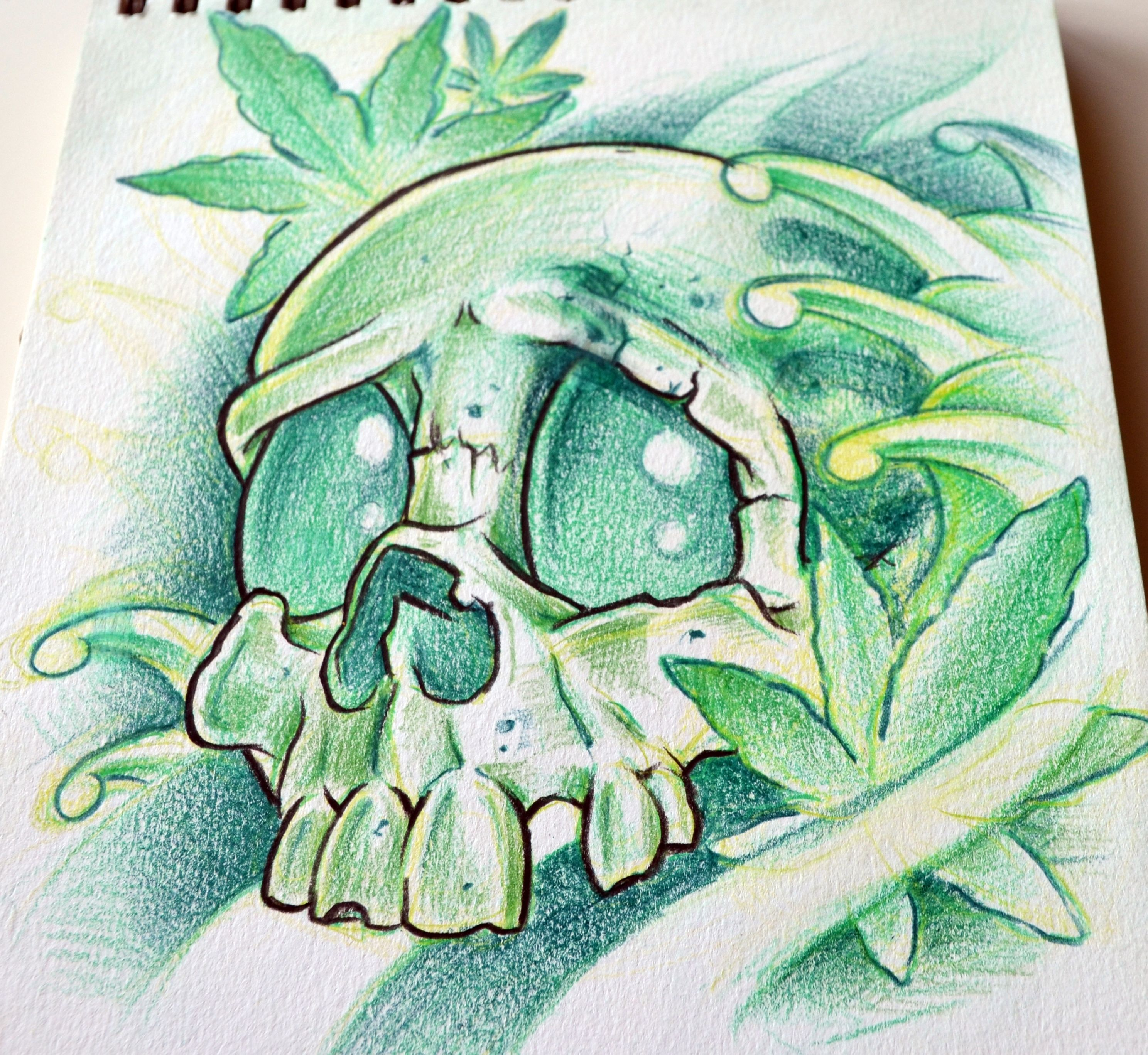 weed...skulls...and... | Some sketches and drawings done by me ...