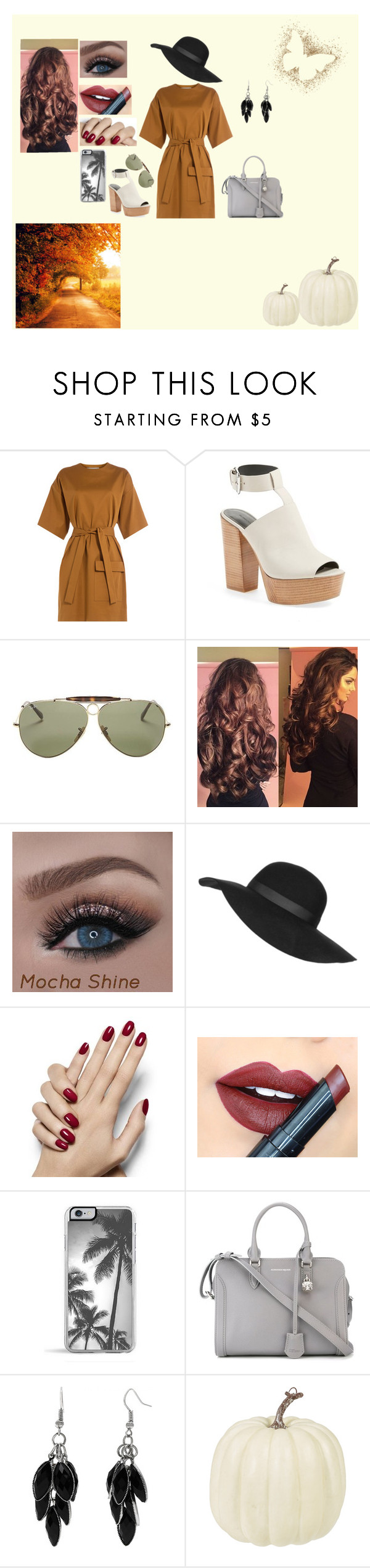 """""""Fall Outfit"""" by alexis-renteria2249 on Polyvore featuring MSGM, Rebecca Minkoff, Ray-Ban, Topshop, Fiebiger, Zero Gravity, Alexander McQueen and Alexa Starr"""