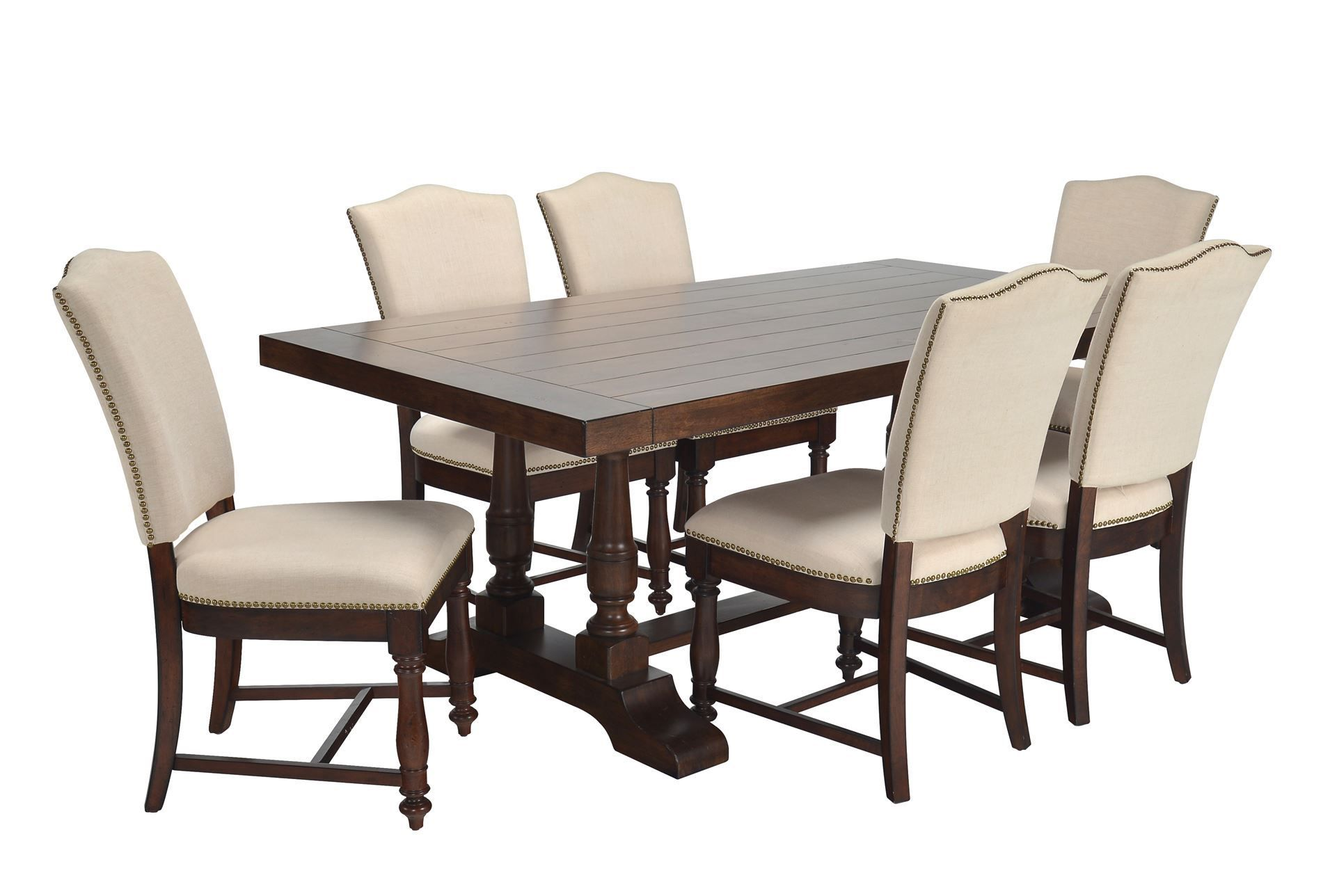 Best Arlo 7 Piece Upholstered Dining Set Dining Room Sets 400 x 300