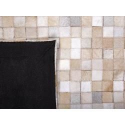 Photo of Teppich Leder beige 160 x 230 cm Advan BelianiBeliani