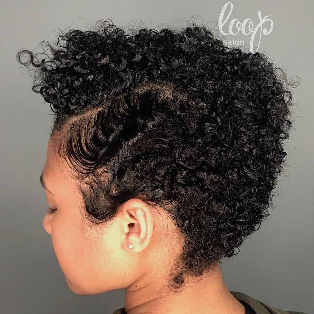 Short Natural Hair With Finger Wave Temple