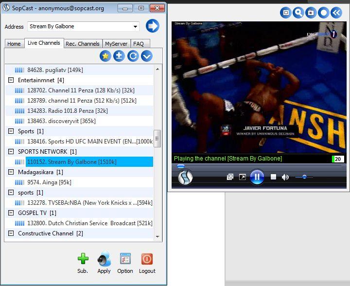 Pacquiao vs Marquez Working SOPCAST Channel