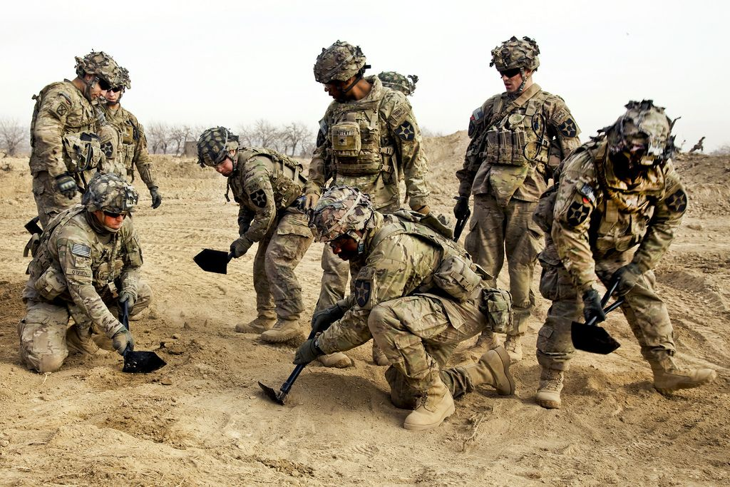 Soldiers Of Bronco Troop 1st Squadron 14th Cavalry Regiment 3rd Brigade 2nd Infantry Division Kandahar Province Military Action Infantry Troops