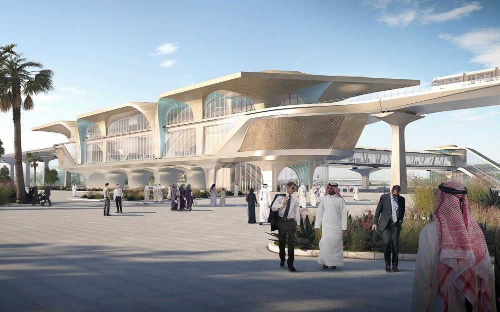 Gallery Of Unstudio Appointed To Create Identity For Qatar S New Metro Network 1 Doha Qatar Architecture