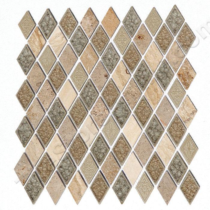 Coastline Sand Dollar Diamond Rhomboid Combo Mix Crackle