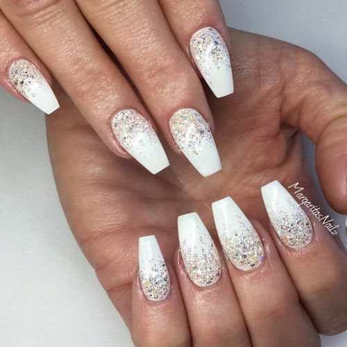 Cute White Coffin Nail picture 4 - 33 Fancy White Coffin Nails Designs Nails #5 Pinterest Nails