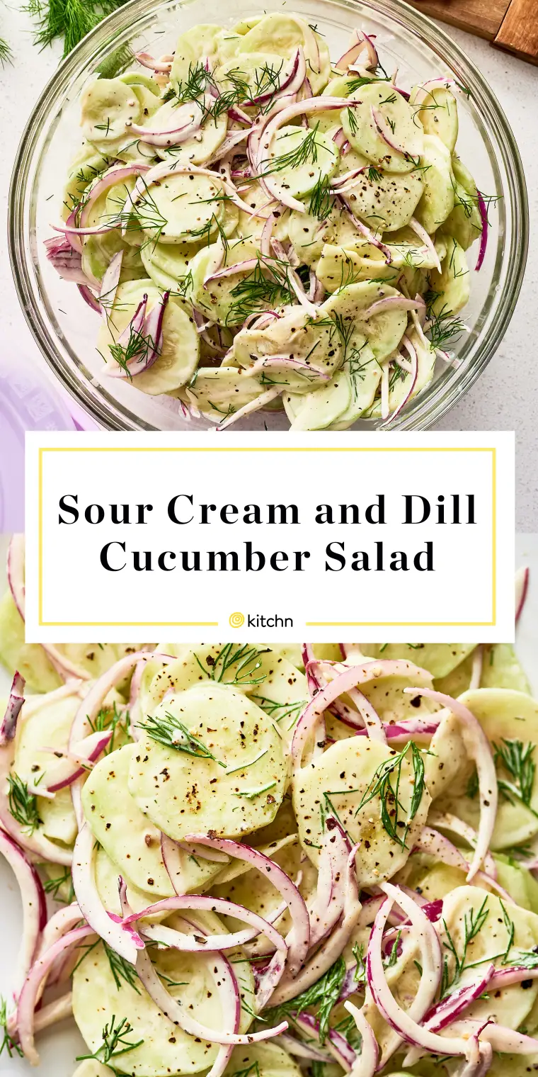 Sour Cream and Dill Cucumber Salad | Recipe | Cucumber ...