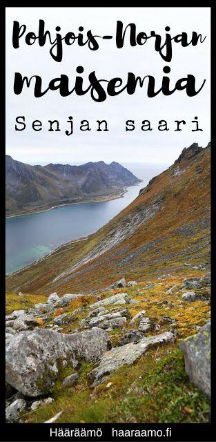 Upea vuoristoinen Senjan saari Pohjois-Norjassa