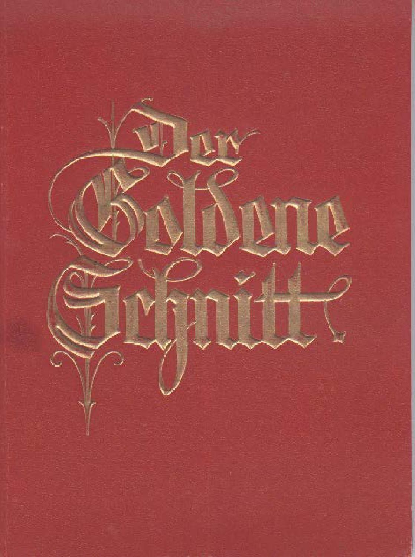Der Goldene Schnitt 1939 | 1930s | Pinterest | Goldener schnitt