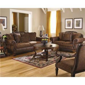 Bradington Truffle Sofa And Loveseat By Ashley Furniture