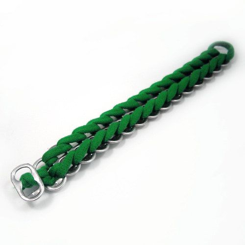 CUSTOM LISTING Emerald Green Upcycled Bracelet