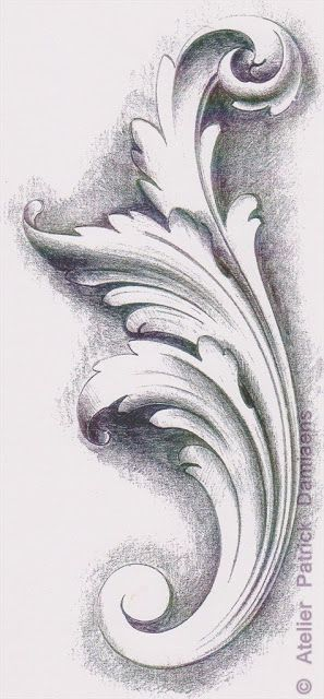ORNAMENTAL WOODCARVER Patrick Damiaens: THE ACANTHUS LEAF