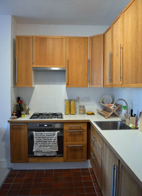 Best Ulriksdal Oak Cabinets White Counters Kitchen Cabinets 400 x 300