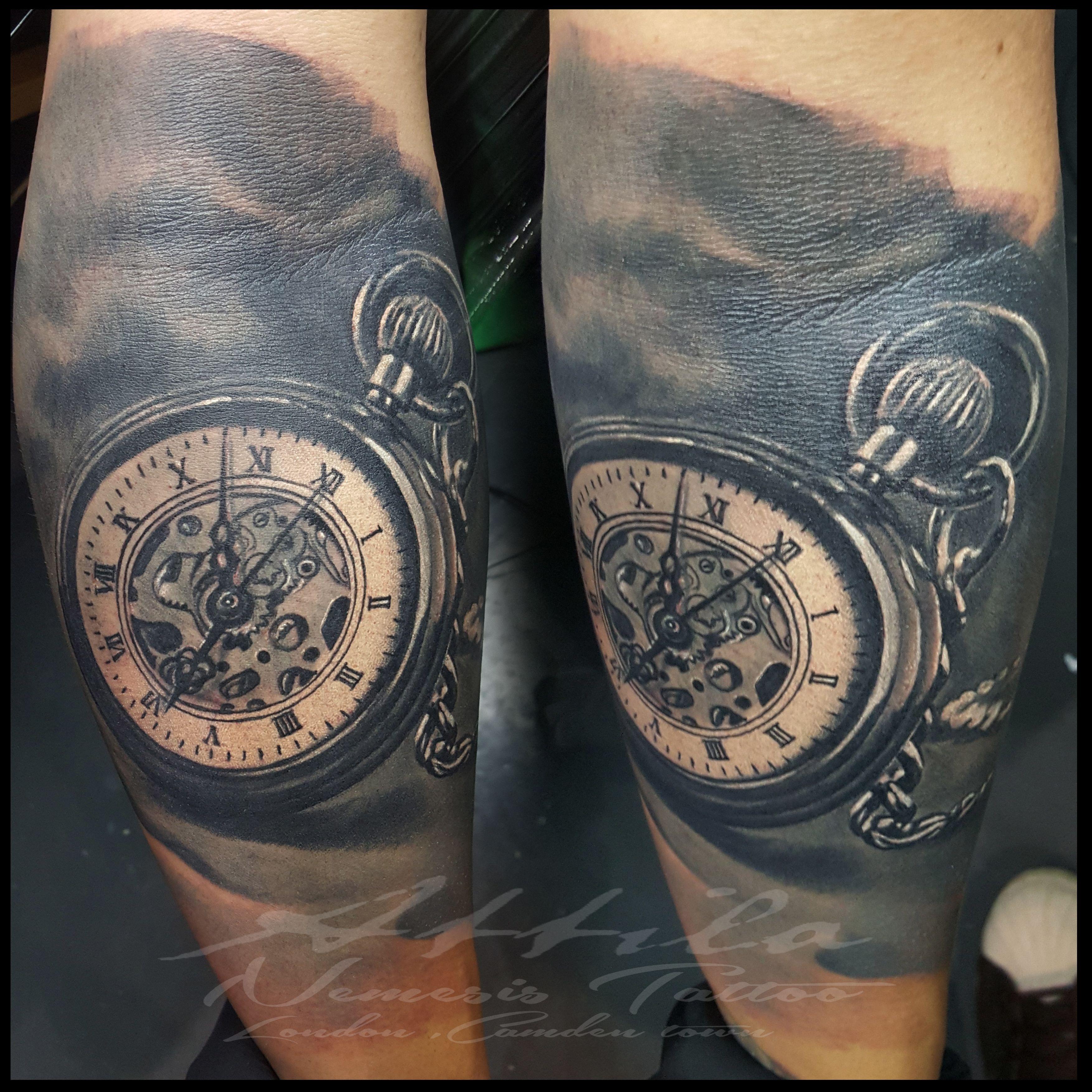 pocket watch tattoo tattoos pinterest. Black Bedroom Furniture Sets. Home Design Ideas
