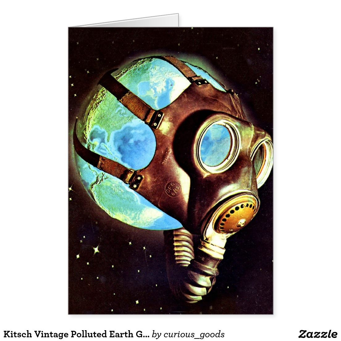 Kitsch Vintage Polluted Earth Gas Mask