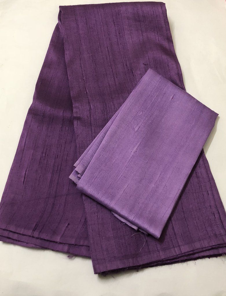 286de5f881762 Pure raw silk saree with contrast blouse