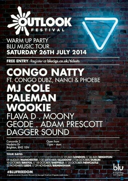 Outlook festival blu music tour with Congo natty.