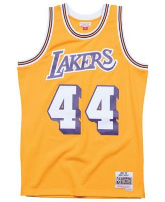 d8e5d259431e Mitchell   Ness Men s Jerry West Los Angeles Lakers Hardwood Classic  Swingman Jersey - Gold XXL