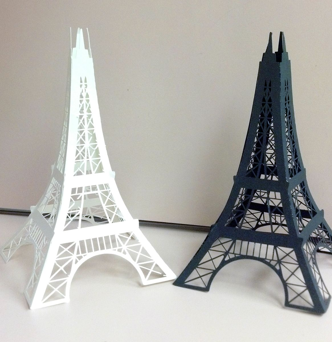 Thick Cardboard 3D Eiffel Towers Can be made in different colors ...