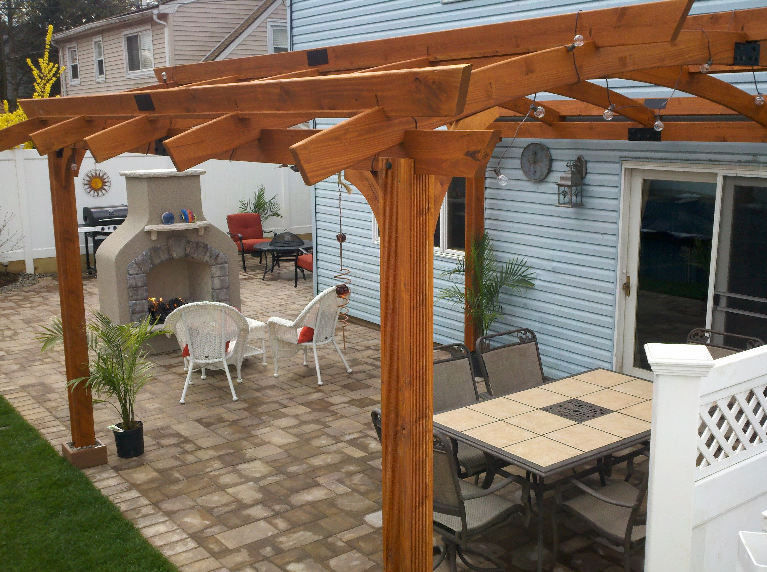 paver patio with curved pergola | The Great Outdoors | Pinterest ...