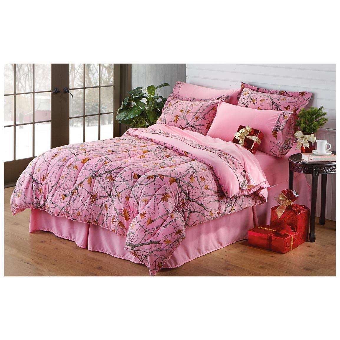 Castlecreek Truetimber Pink Camo Complete Bed Set Bedding
