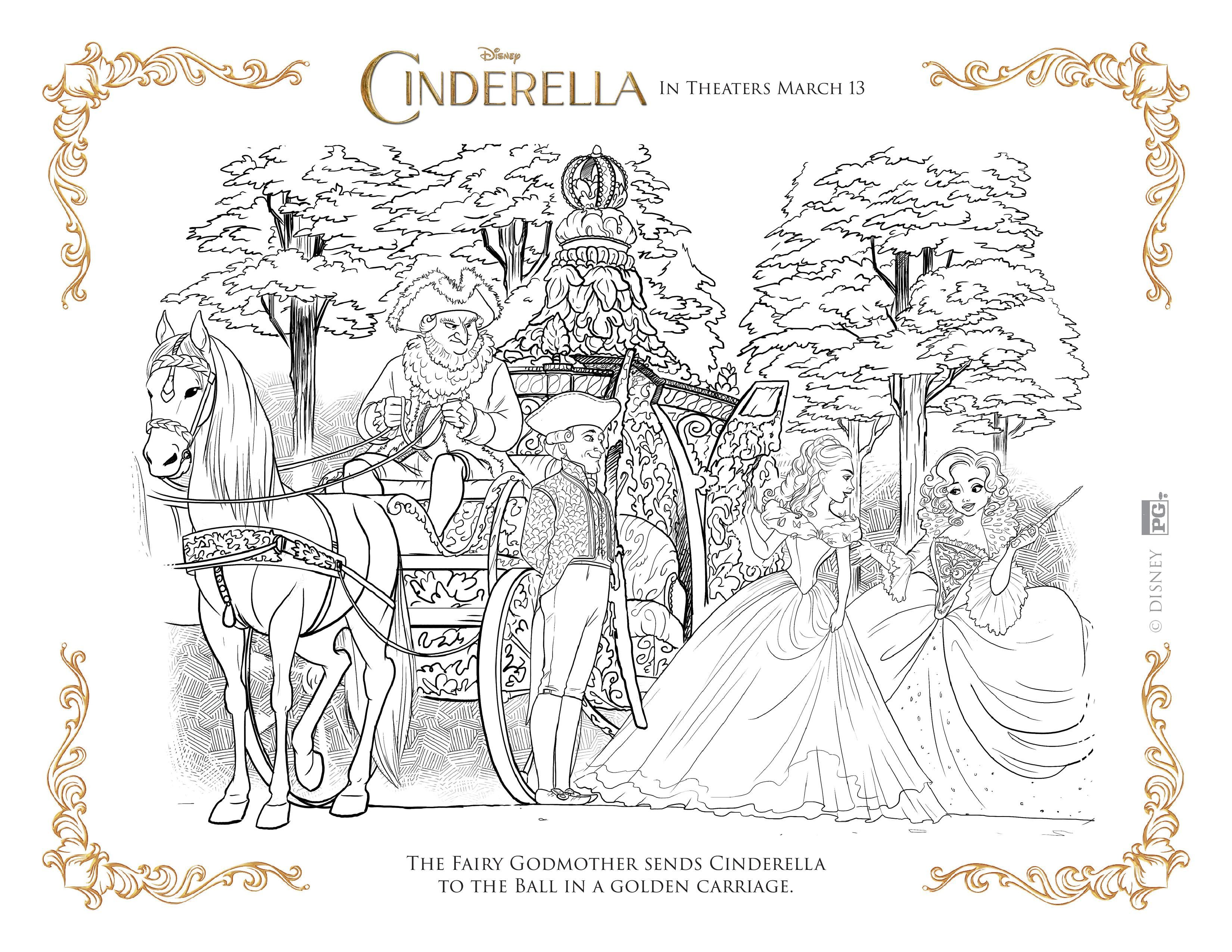 NEW Disney\'s Cinderella Coloring Pages and Activity Sheets ...