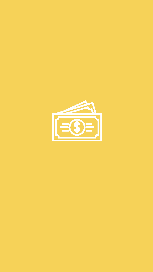 yellow cash Instagram story highlights template ...