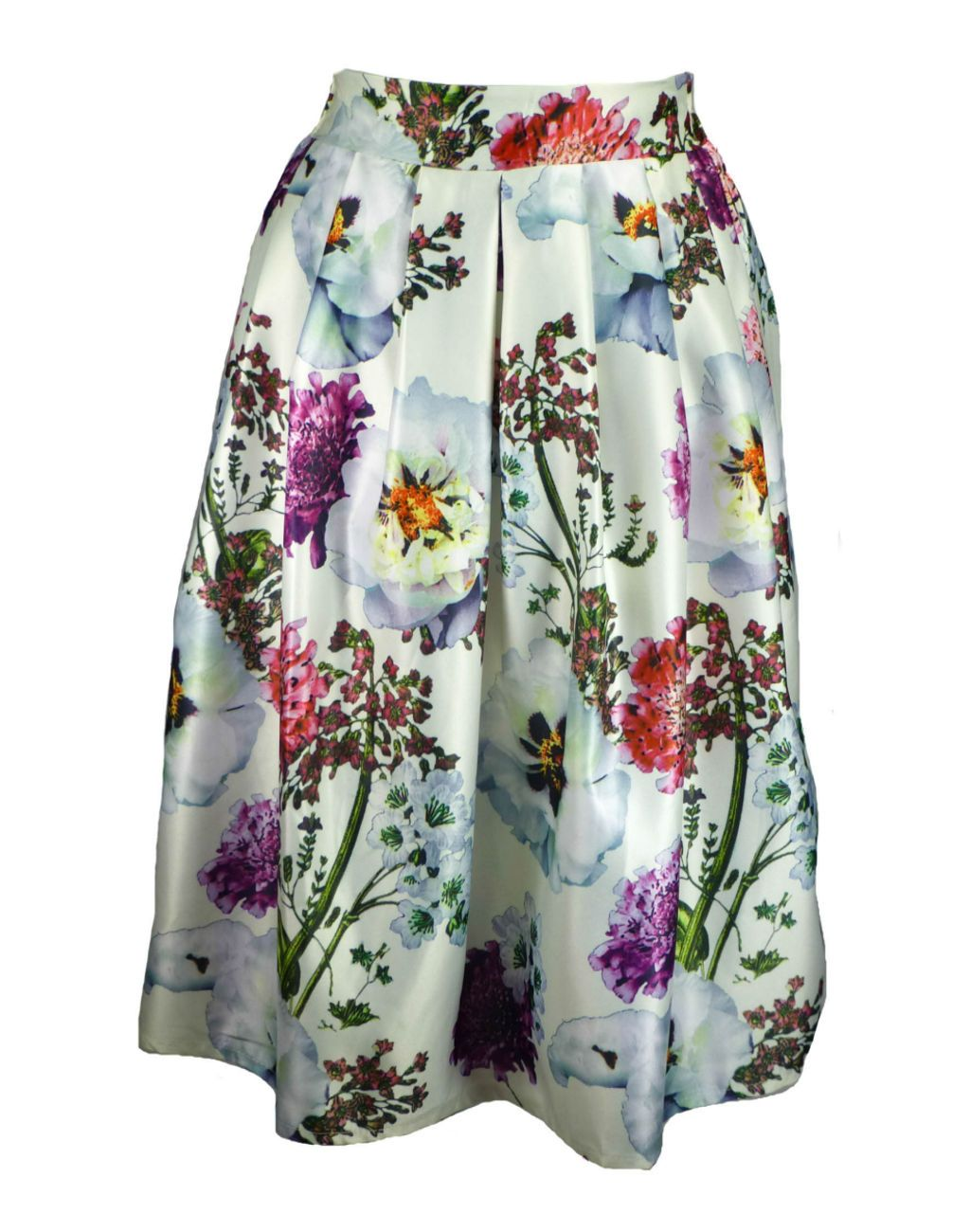 Summer wedding or evening cruise outfit- Shikha London Cream Floral Midi Skirt