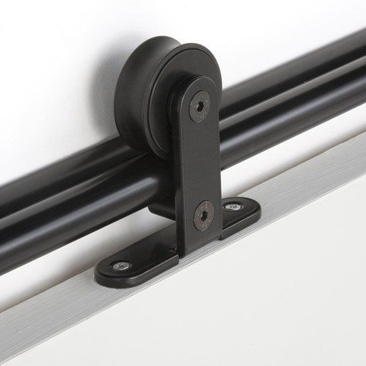 rail_coulissant_bolero_2_noir__pour_porte_de_largeur_93_cm_maximum - rail porte coulissante en applique