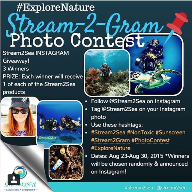 Share your favorite under or over water pics and win some of the best ocean friendly products ever from our friends at #stream2sea!  #flscubagirls #diving #Scuba #padi #photocontest #nontoxic #sunscreen #stream2gram #explorenature by flscubagirls