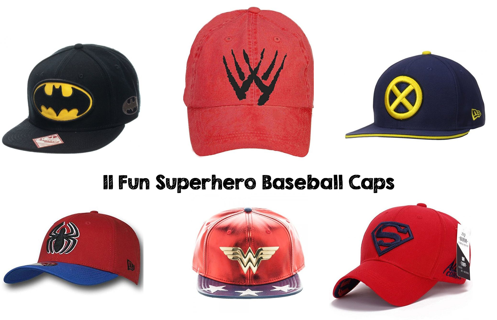 11 Fun Superhero Baseball Caps  12c35eb67