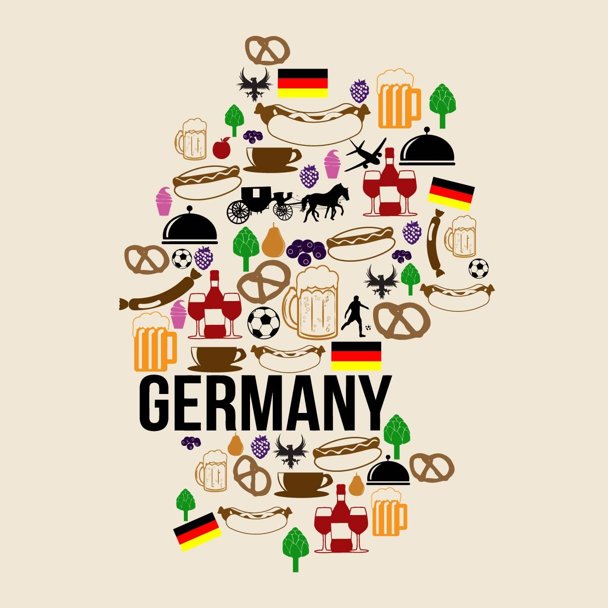 germany map food Szukaj w Google Germany map, Clip art