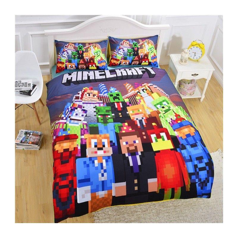 @survival_mum Muss Ich HABEN: Minecraft Kinder Bettwäsche Bedding Set  Günstig Kinderbett Http:/
