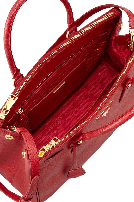 Saffiano Double Zip Executive Tote Bag