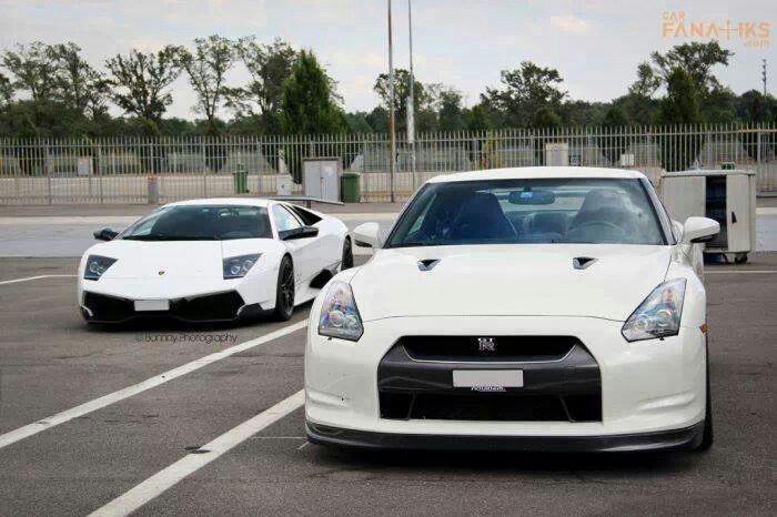 White Supercars Lamborghini Diablo Nissan Gtr The Garage Cars