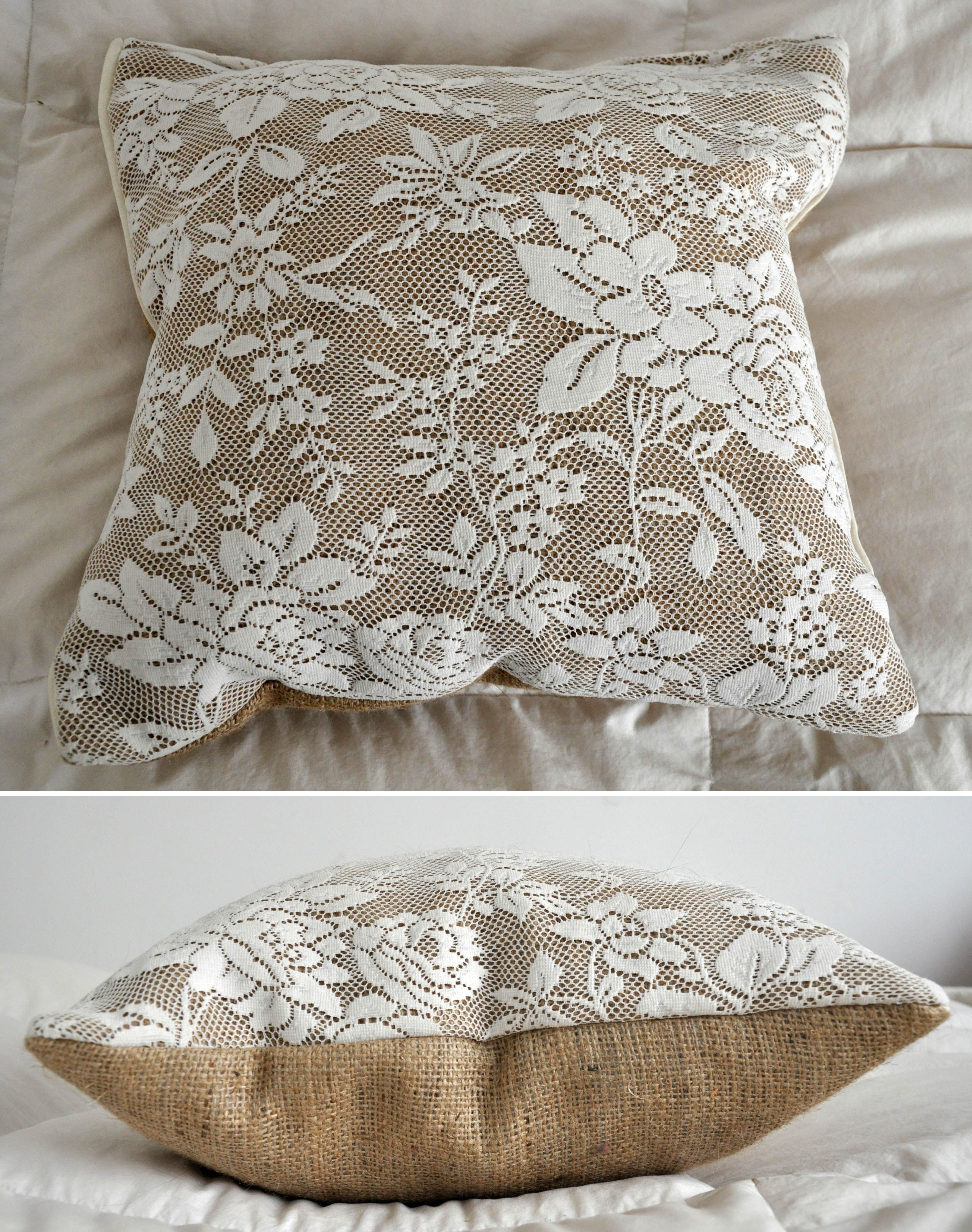 almohad n hanna arpillera encaje ideal para bodas medidas 40x40 kissen vintage. Black Bedroom Furniture Sets. Home Design Ideas