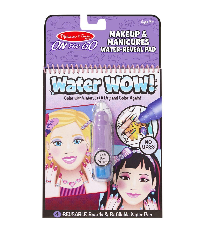 Melissa u doug on the go water wow makeup u manicures manicure