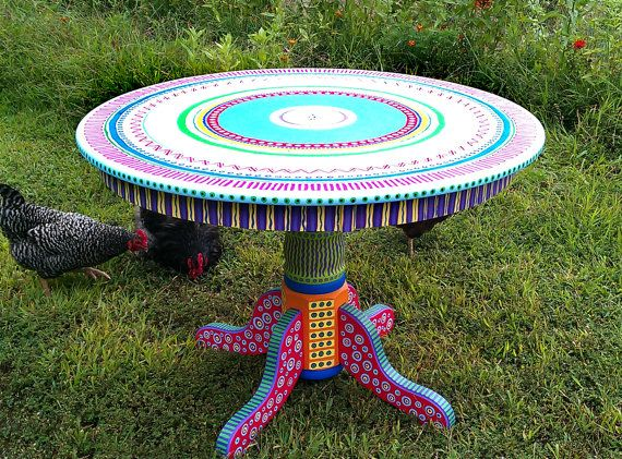 17 mejores ideas sobre mesas de cocina coloridas en - Muebles de colores pintados ...