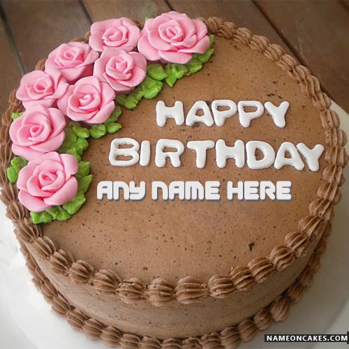 German Chocolate Birthday Cake With Name HBD Cake Pinterest